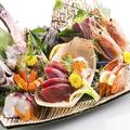 料理メニュー写真こだわり鮮魚の盛り合わせ(3種)