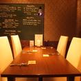 女子会におすすめの2階テーブル席