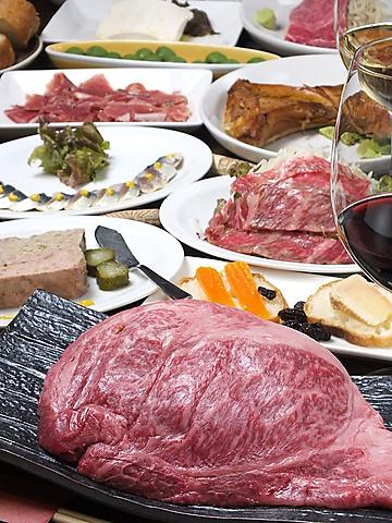 お肉と10種類以上のグラスワインを楽しめるお店♪