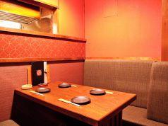 3~4名様用の個室です。女子会に最適です