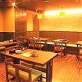 広い店内にはお席がたくさんご用意してありますので、30名様以上で貸切も可能です。最大40名様まで貸切ご利用可能となっております。テーブルの組み合わせによって様々なご人数のご宴会も承っておりますので、ご予約お待ちしております!!