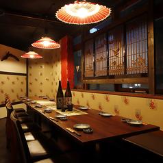 ●~完全個室 & 半個室:桔梗の間~●団体専用・テーブルタイプ:3~18名用
