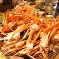 こんもり盛られた蟹!蟹!蟹!思う存分召し上がってください。