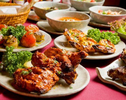 本物志向のお料理を追求し、オリジナリティ溢れるインド料理の数々をご堪能あれ。