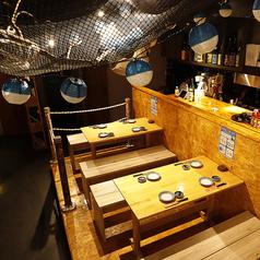 ●~独立・テーブル席:波止場の間~●テーブルタイプ:3~4名用