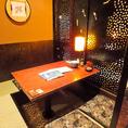 【個室・半個室でゆったり】接待や会食、合コンや会社宴会にも人気の個室や半個室をご用意しております。お気軽にご相談ください。
