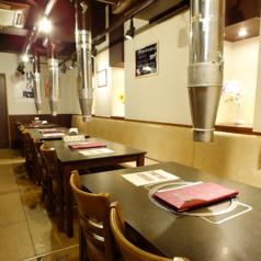 テーブル席は4名掛けを4組、6名掛けを2組ご用意しております!会社帰りの飲み会や女子会、デートにご家族でのお食事など様々なシーンでご利用頂けます♪