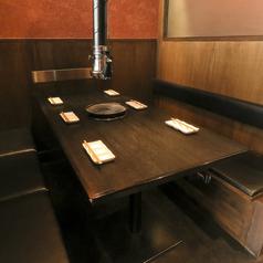 『6名様まで着席可能です。テーブルボックス席』