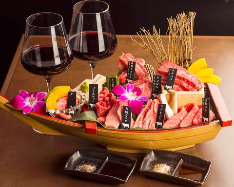 仙台牛の希少部位9種を堪能できる「舟盛り」 日替わりで厳選した部位のみをご提供!