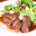 料理メニュー写真牛サガリのハンガーステーキ