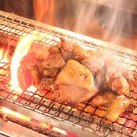 奥美濃古地鶏の炭火焼き(中)988円