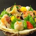 料理メニュー写真貝のお造り5種盛り合わせ