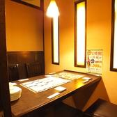 2~4名様の個室です。扉付きの完全個室はとても人気です。