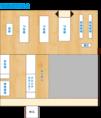 【貸切レイアウト図】(貸切タイプ:フロア貸切) (人数:着席30名~40名、立食30名~70名) (貸切条件:直接お店にお問い合わせください。) (会場使用料・チャージ:無料) (禁煙・喫煙:分煙席) (設備・サービス:マイクあり プロジェクターあり ケーキ手配可) (予約・キャンセル規定:直接お店にお問い合わせください。)
