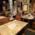 24名収容のテーブル席、こちらも人気^^
