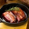 極厚スペイン産イベリコベーコンのオーブン焼き Oven Baked Extra-Thick Iberian Wood Bacon