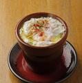 料理メニュー写真釜揚げシラスと卵のそら豆アヒージョ
