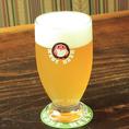 常陸野ネスト700円(税別)~〈日本〉茨城県が世界に誇る常陸野ネストビール。日本人の感性に合わせた優しい口当たりのヴァイツェンビールです。 ミディアム 700円・パイント 1200円