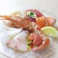 料理メニュー写真看板メニューのカルパッチョ 魚介の盛り合わせ