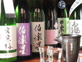 和食に合う日本酒・焼酎が充実