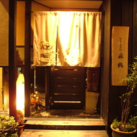 まさに大人の隠れ家。落ち着いた玄関