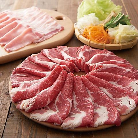 ◇厳選牛と三元豚 肉ノ寿司 食べ放題コース 3380円(税込)