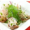 料理メニュー写真まぐろのほほ肉のソテー 香味野菜添え