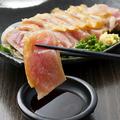 料理メニュー写真鶏タタキ ポン酢