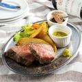 料理メニュー写真北海道産サロマ牛モモ低温調理ステーキ