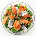 """料理メニュー写真seafood and citrus mesclun greens salad """"wine vinegar dressing"""""""