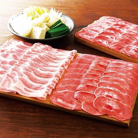 ◇たんしゃぶと北海道つや姫豚 肉ノ寿司 食べ放題コース 3980円(税込)