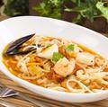 料理メニュー写真トマトスープパスタ(シーフード)