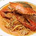 料理メニュー写真渡りガニのトマトパスタ
