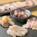 料理メニュー写真鶏焼4種盛り合わせ