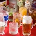 食べ放題にプラス1,200円で飲み放題がつけれます。【ビール】【サワー】【梅酒・果実酒】【ハイボール】【焼酎・日本酒】【カクテル】【ソフトドリンク】など。お得です♪