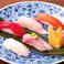 寿司盛り合わせ 5貫・貝汁付