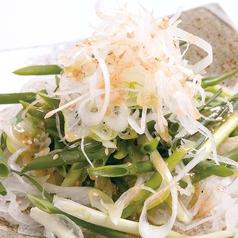 料理メニュー写真ネギねぎ葱サラダ