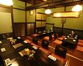 最大30名までの宴会個室は貸切で。