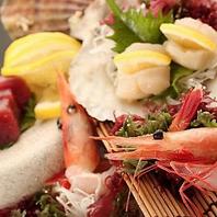 地元北海道で獲れた新鮮な海鮮!