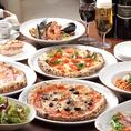 【PIZZERIA BACI】(ピッツェリア バーチ)では、ご宴会に嬉しいお得な【飲み放題】付きコースを多数ご用意!ご予算は3500円から用途に合わせてご利用ください。