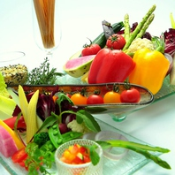新鮮なお野菜とともに…