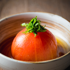 料理メニュー写真出汁香る 冷やしトマト