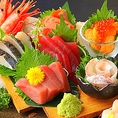 旬の鮮魚を各漁港から直送!鮮度抜群♪三崎から直送される新鮮な鮮魚や築地直送の旬魚は必食!本マグロをはじめ鮮度の違いを是非お試し下さい!リーズナブルにお得感満載の鮮魚の盛り合わせは大人気です!