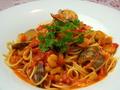 料理メニュー写真魚介のトマトクリームパスタ