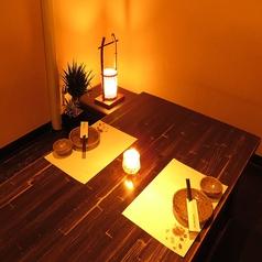 2名様からご利用頂ける掘りごたつ個室は、デート利用やご友人同士でのご利用にも最適です。プライベート空間でゆっくりとお食事をお楽しみ頂けます。