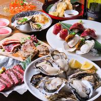 色々な食べ方を堪能できる牡蠣食べ尽しコース