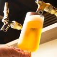 こだわりのビールあります!!日本一の生ビールを目指しています!ドラフトマスターズスクール卒業したスタッフしか継がせません。本物の旨い生ビールをご提供します。
