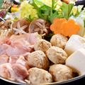 料理メニュー写真朝採れレタスと水菜の白湯水炊き鍋