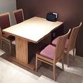 ランチ禁煙・ディナー喫煙可【個室4人テーブル】※8名席に連結可能です。
