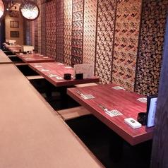 1階【紅葉の間】:掘りごたつ式のお座敷席、4名様×8テーブル最大32名様